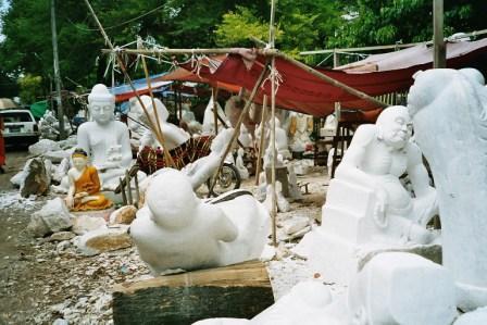 Atelier de marbre à Mandalay