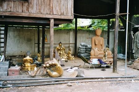 Atelier Boudhas à Mandalay